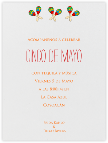 Three Maracas - Paperless Post - Cinco de Mayo Invites