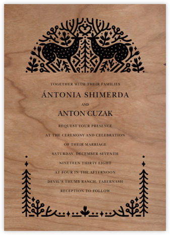 Sundance (Invitation) - Paperless Post - Destination wedding invitations
