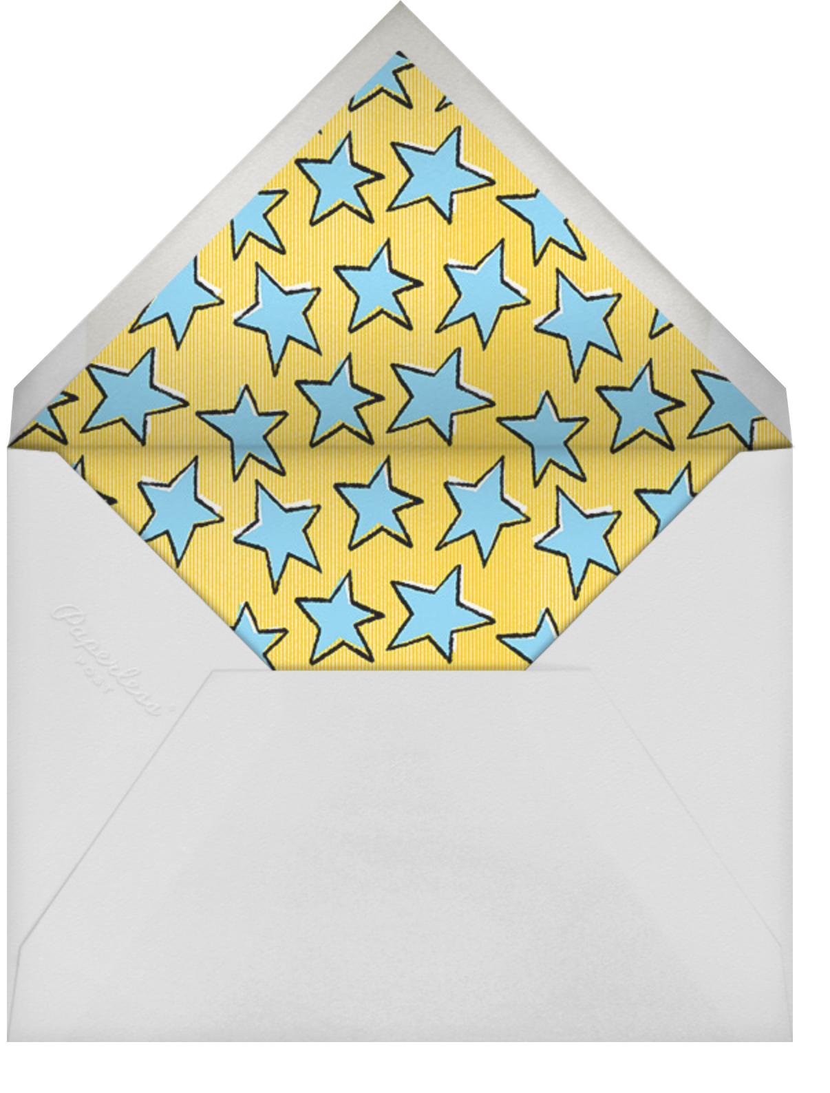 One Super Day - Paperless Post - Kids' birthday - envelope back