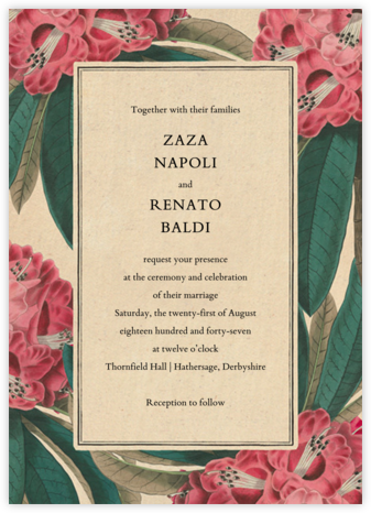 Azalea Grove (Invitation) - John Derian - Wedding Invitations