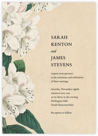 Campanulata (Invitation) - John Derian - Wedding Invitations