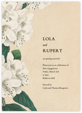 Campanulata - John Derian - Engagement party invitations