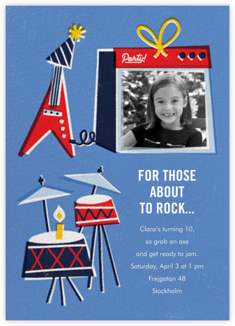 I'm With the Band - Paperless Post - Online Kids' Birthday Invitations
