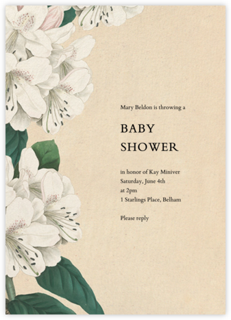 Campanulata - John Derian - Baby Shower Invitations
