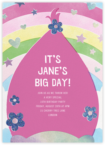 Troll Out - Pink - Paperless Post - Online Kids' Birthday Invitations