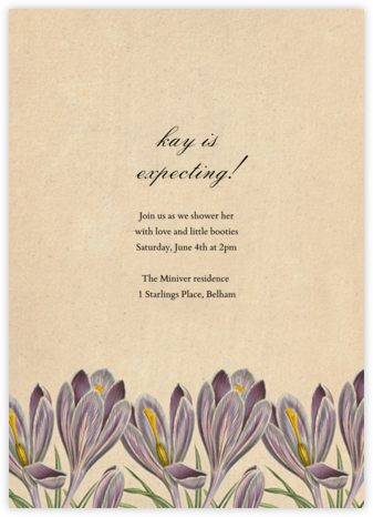 Crocus Vernus - John Derian - Engagement party invitations