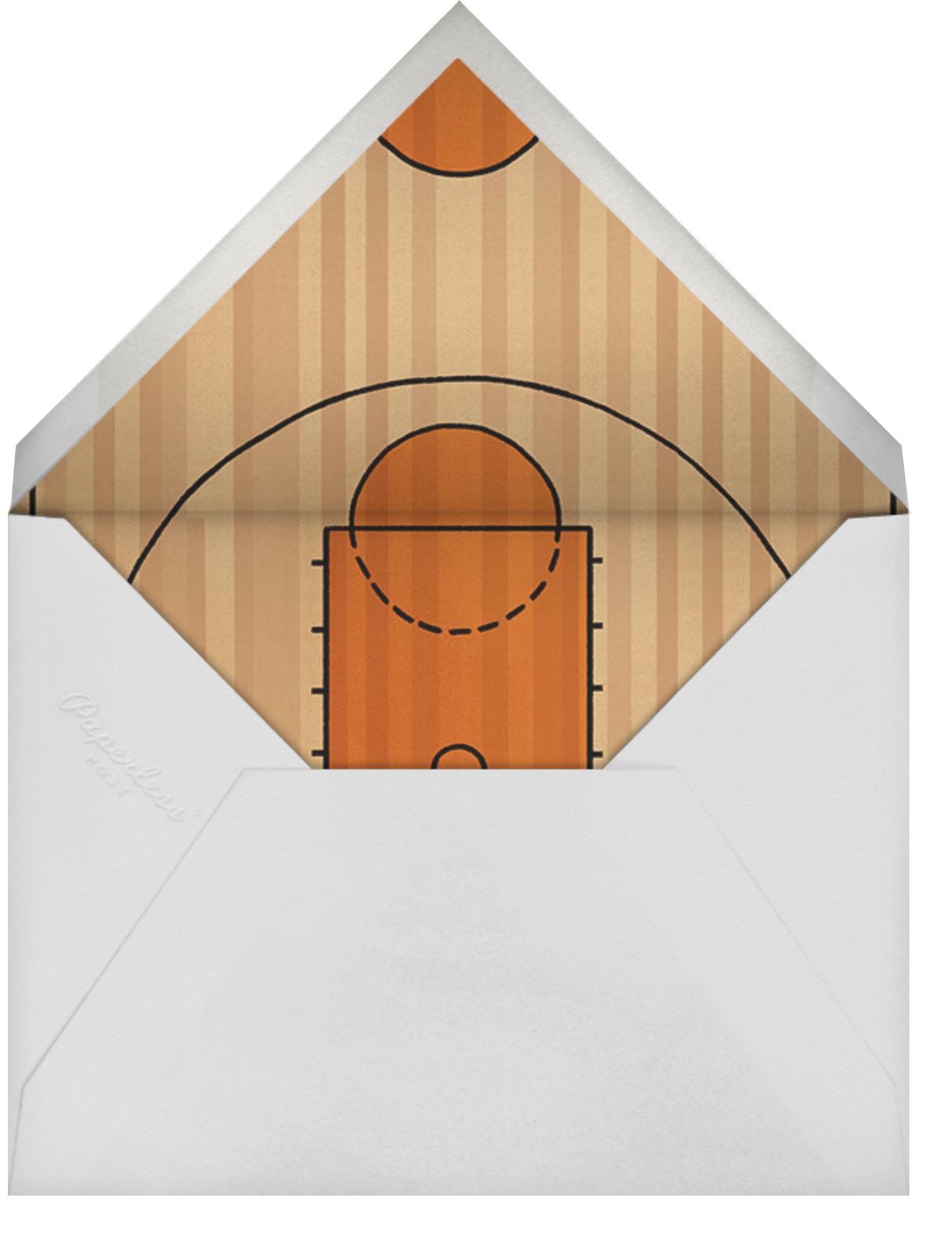 Courtside Seats - Basketball - Paperless Post - Sports - envelope back