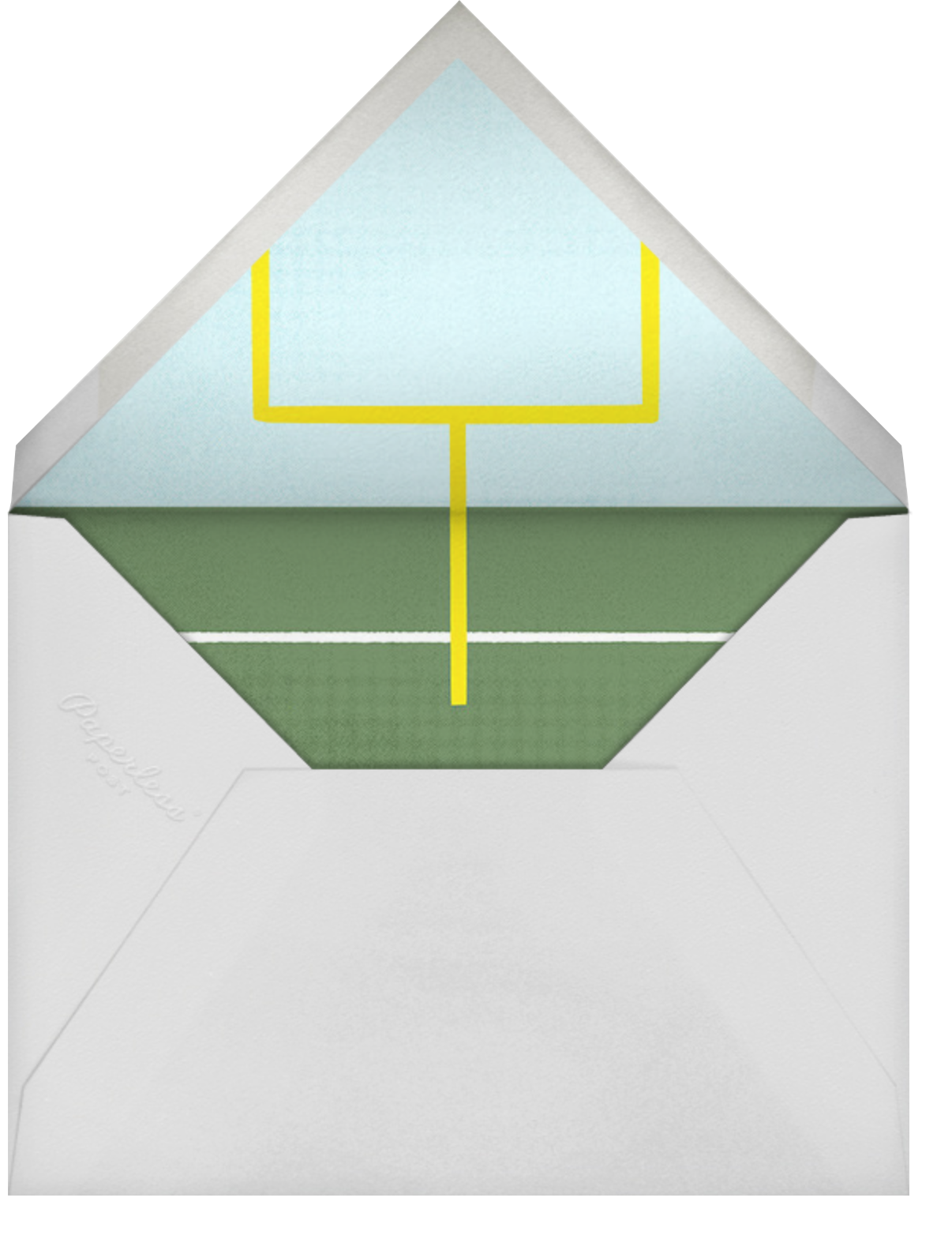 Courtside Seats - Football - Paperless Post - Bat and bar mitzvah - envelope back