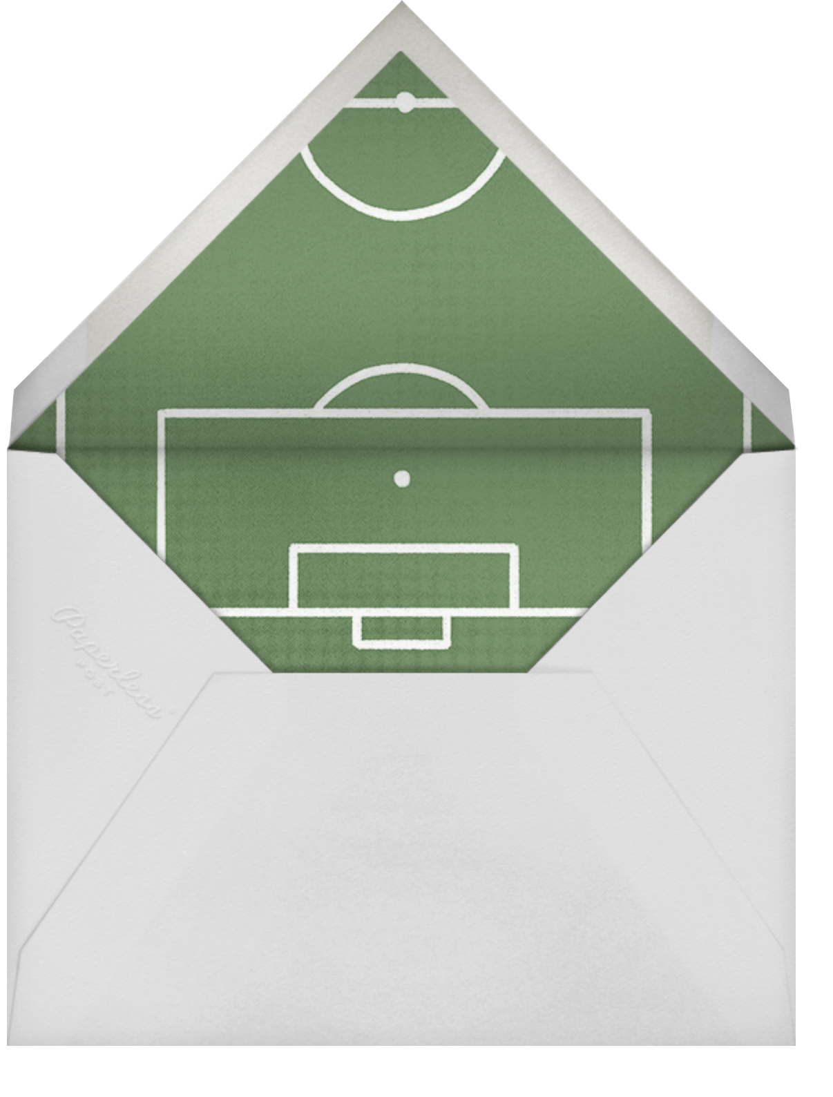 Courtside Seats - Soccer - Paperless Post - Bat and bar mitzvah - envelope back