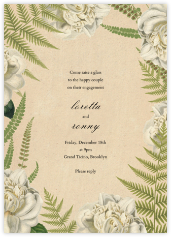 Fern Bouquet - John Derian - Engagement party invitations