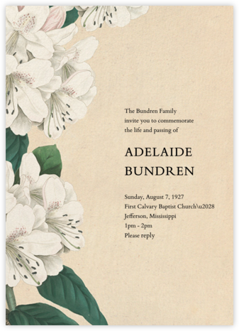 Campanulata - John Derian - Celebration invitations