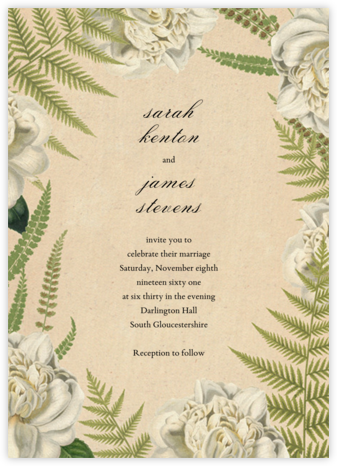 Fern Bouquet (Invitation) - John Derian - Wedding Invitations