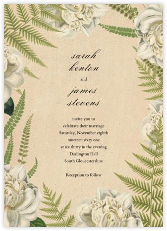 Fern Bouquet (Invitation) - John Derian -