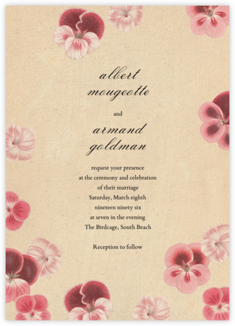 Pelagorium (Invitation) - John Derian - Wedding Invitations