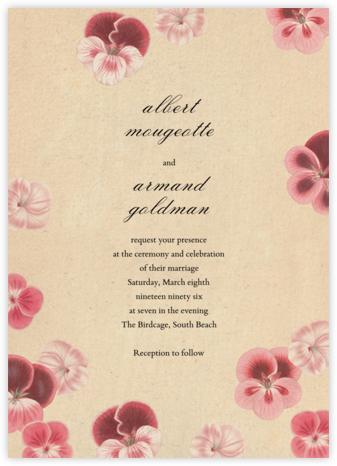 Pelagorium (Invitation) - John Derian - Wedding invitations