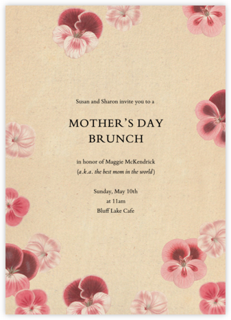 Pelagorium - John Derian - Online Mother's Day invitations