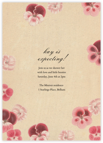 Pelagorium - John Derian - Baby shower invitations