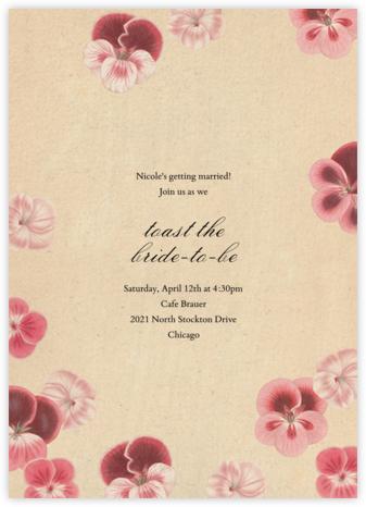Pelagorium - John Derian - Bridal shower invitations