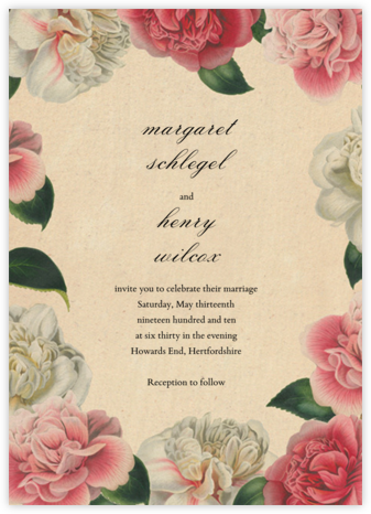 Peony Melange (Invitation) - John Derian - Wedding Invitations