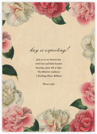 Peony Melange - John Derian - Baby Shower Invitations
