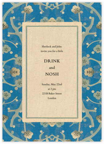 Sakura Tapestry - John Derian - Casual Party Invitations
