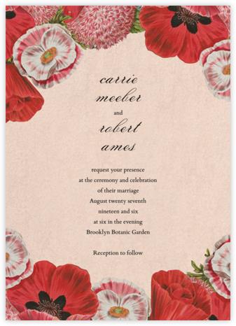 Shirley Poppies (Invitation) - John Derian -