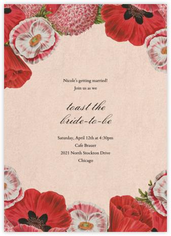 Shirley Poppies - John Derian - Bridal shower invitations