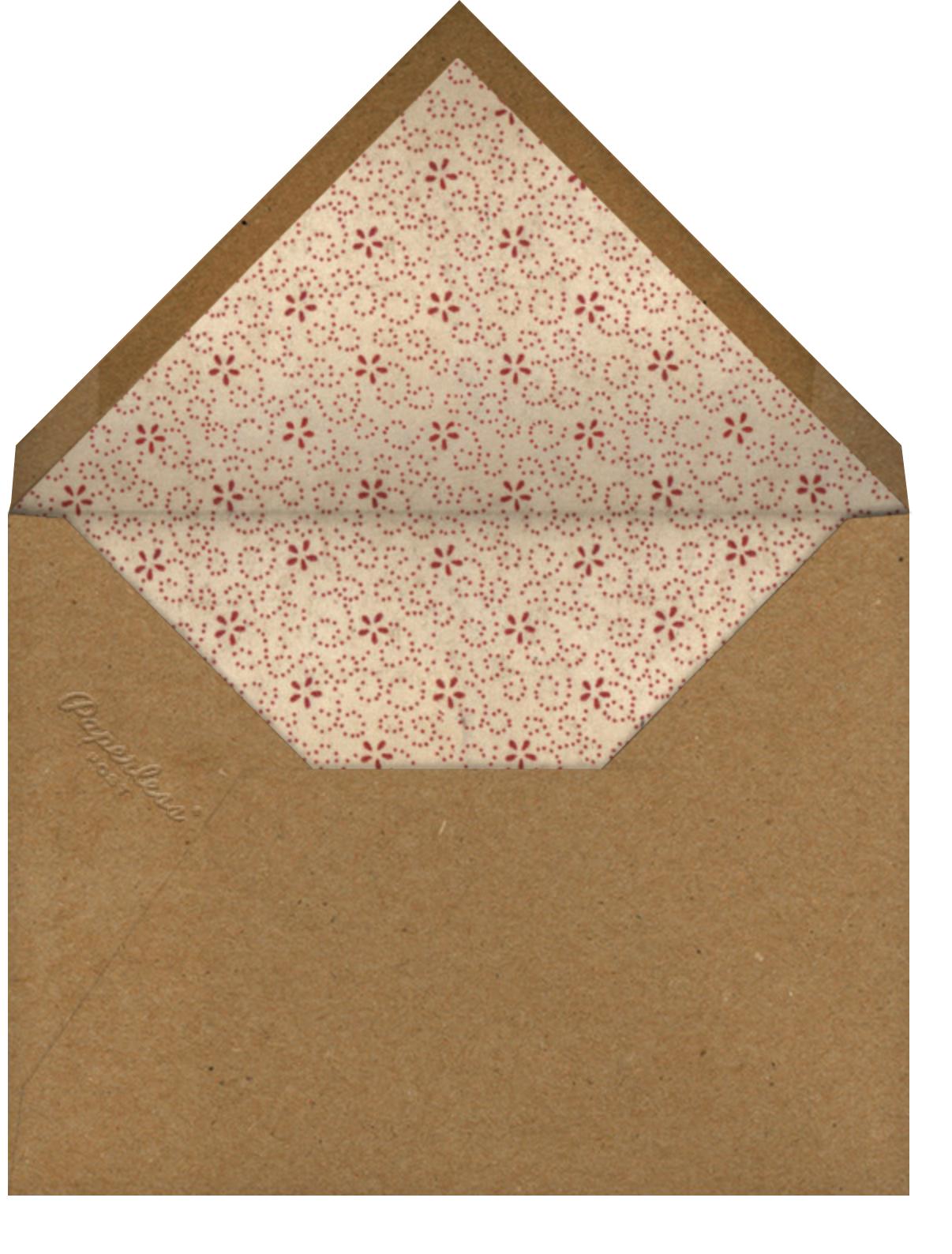 Shirley Poppies - John Derian - Brunch - envelope back