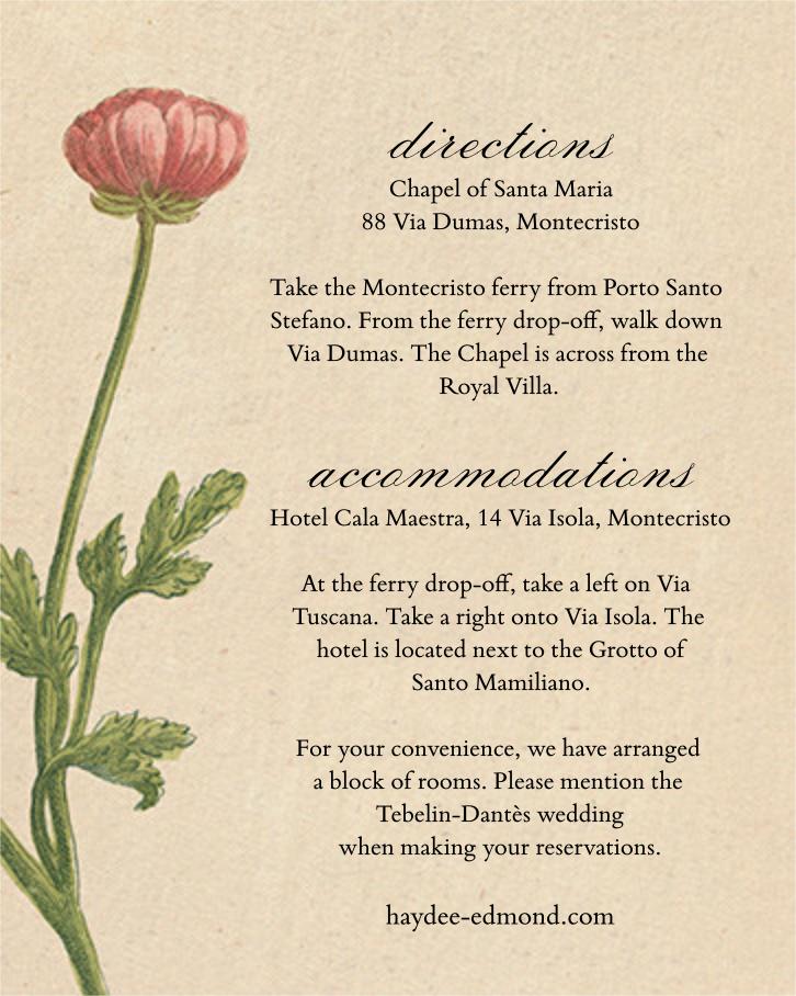 Wild Ranunculus (Invitation) - John Derian - All - insert front