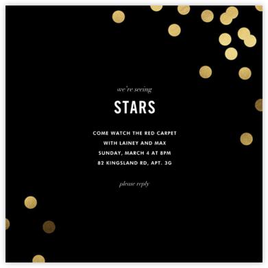 Confetti (Square) - Black - kate spade new york - Get-together invitations