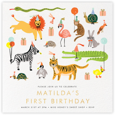 Animal House - Rifle Paper Co. - Birthday invitations