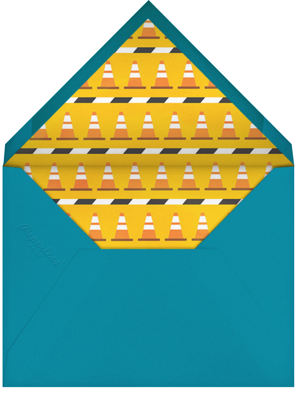 Down in the Dumps - Paperless Post - Kids' birthday - envelope back