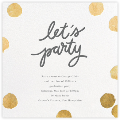Big Dot Party - Gold - Sugar Paper -