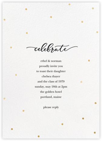 Celebration Dots - White/Gold - Sugar Paper -