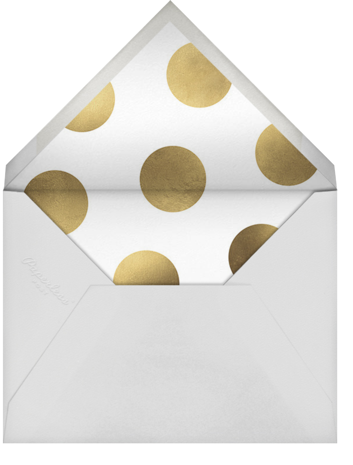 Celebration Dots - Charcoal/Gold - Sugar Paper - Graduation party - envelope back