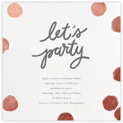 Big Dot Party - Rose Gold - Sugar Paper - Celebration invitations