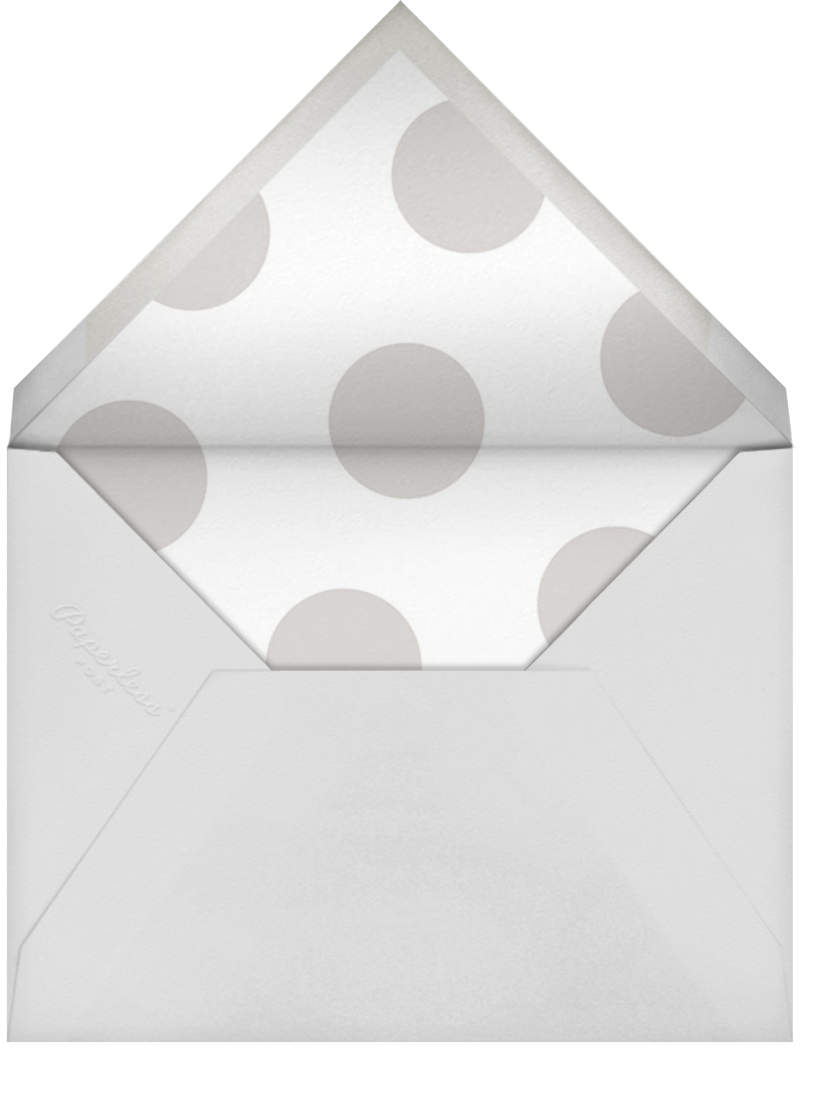 Bold Welcome - Gray - Sugar Paper - Graduation party - envelope back