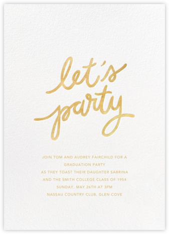 Party Script (Tall) - White - Sugar Paper - Celebration invitations