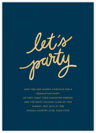 Party Script (Tall) - Dark Blue - Sugar Paper - Sugar Paper