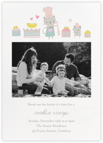 Kittie's Teatime Treats - Little Cube - Cookie Swap Invitations