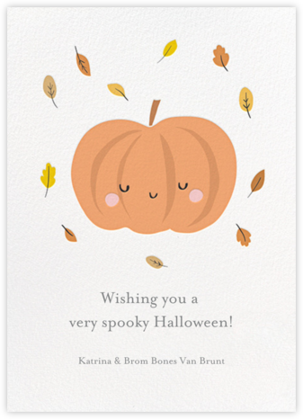 Little Pumpkin - Little Cube - Halloween cards