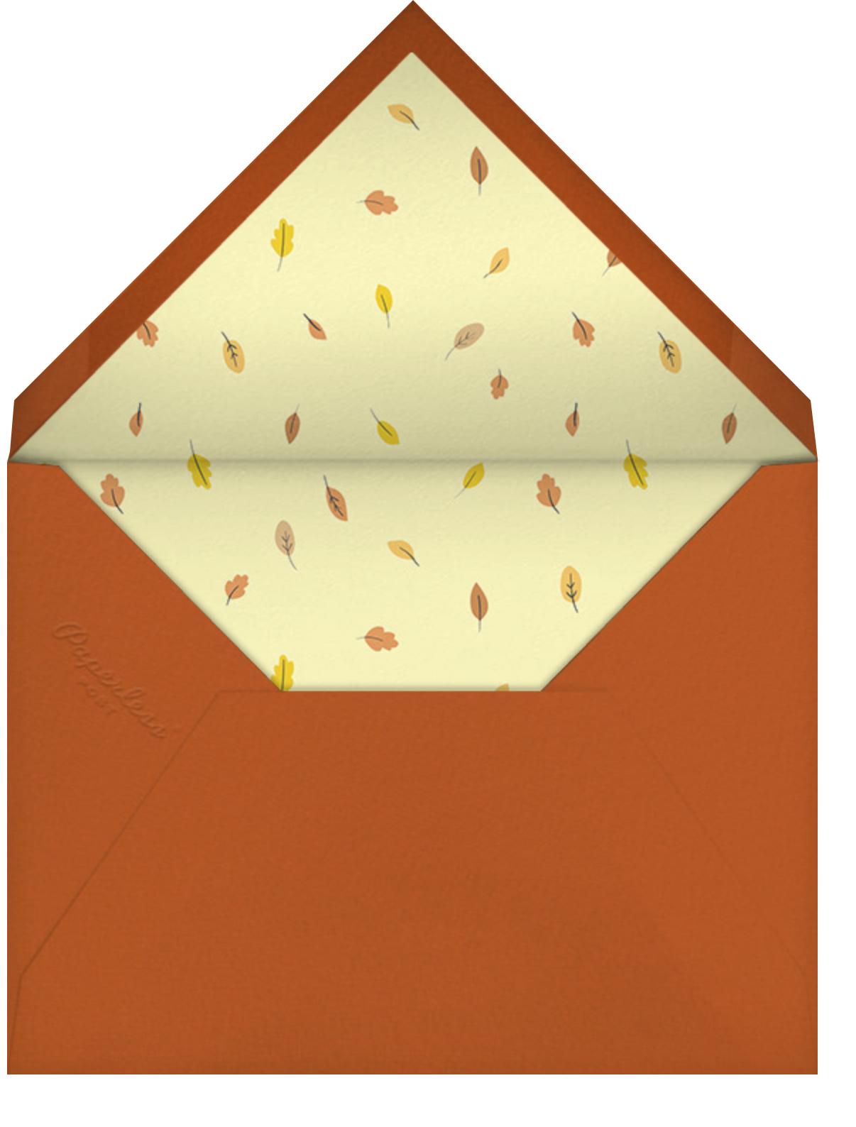 Little Pumpkin - Little Cube - Autumn entertaining - envelope back