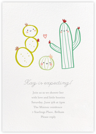 Prickly Pals - Little Cube - Baby shower invitations