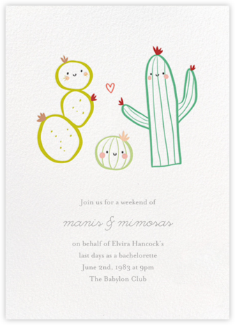 Prickly Pals - Little Cube - Bachelorette party invitations