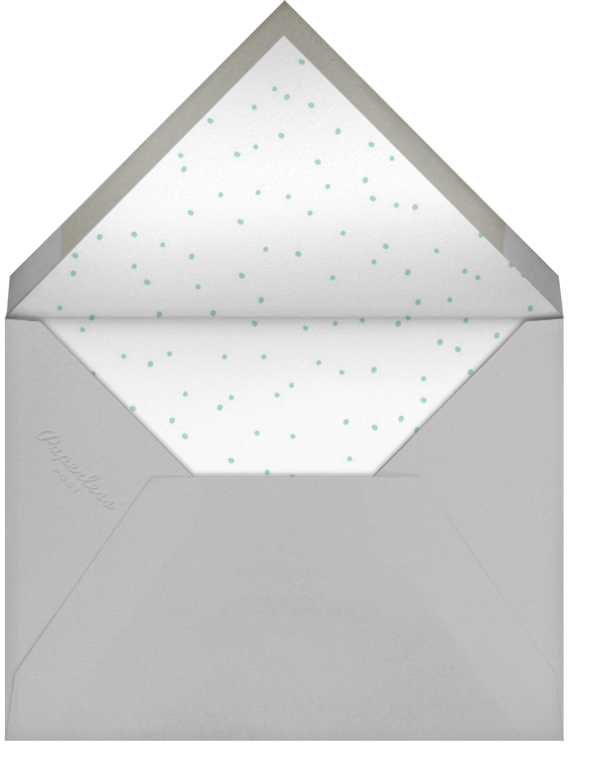 Tweeting Over Teatime Photo - Little Cube - Woodland baby shower - envelope back
