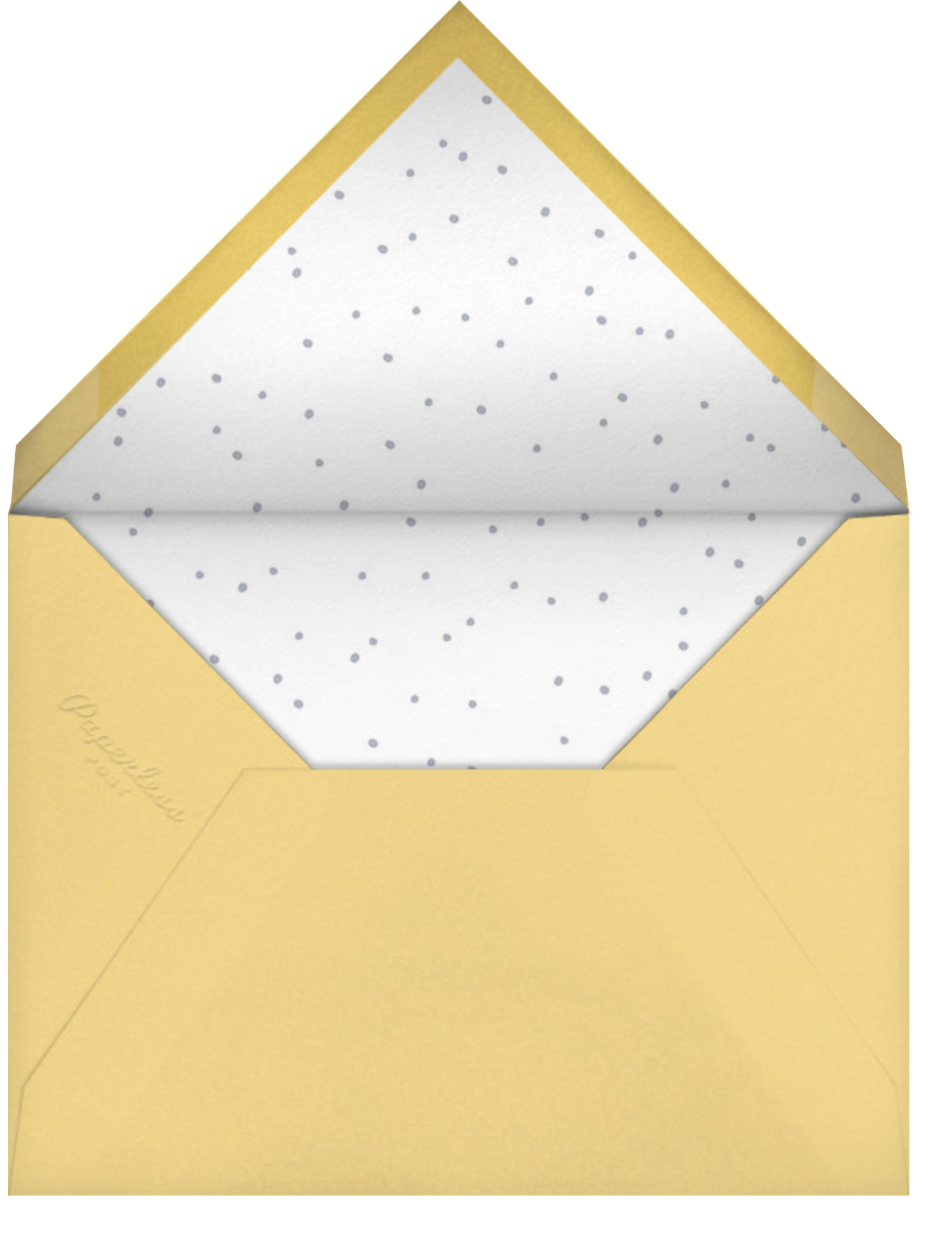 Tweeting Over Teatime - Little Cube - Woodland baby shower - envelope back
