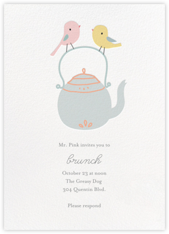 Tweeting Over Teatime - Little Cube - Brunch invitations