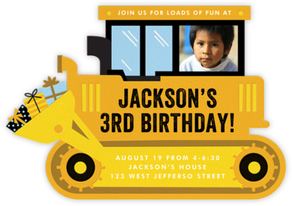 Birthday Dozer - Cheree Berry - Online Kids' Birthday Invitations