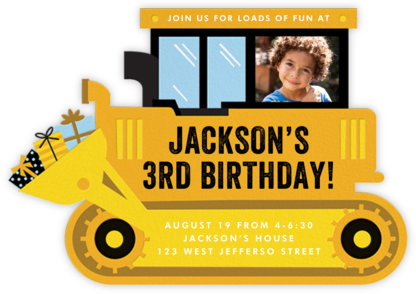 Birthday Dozer - Cheree Berry - Kids' Birthday Invitations