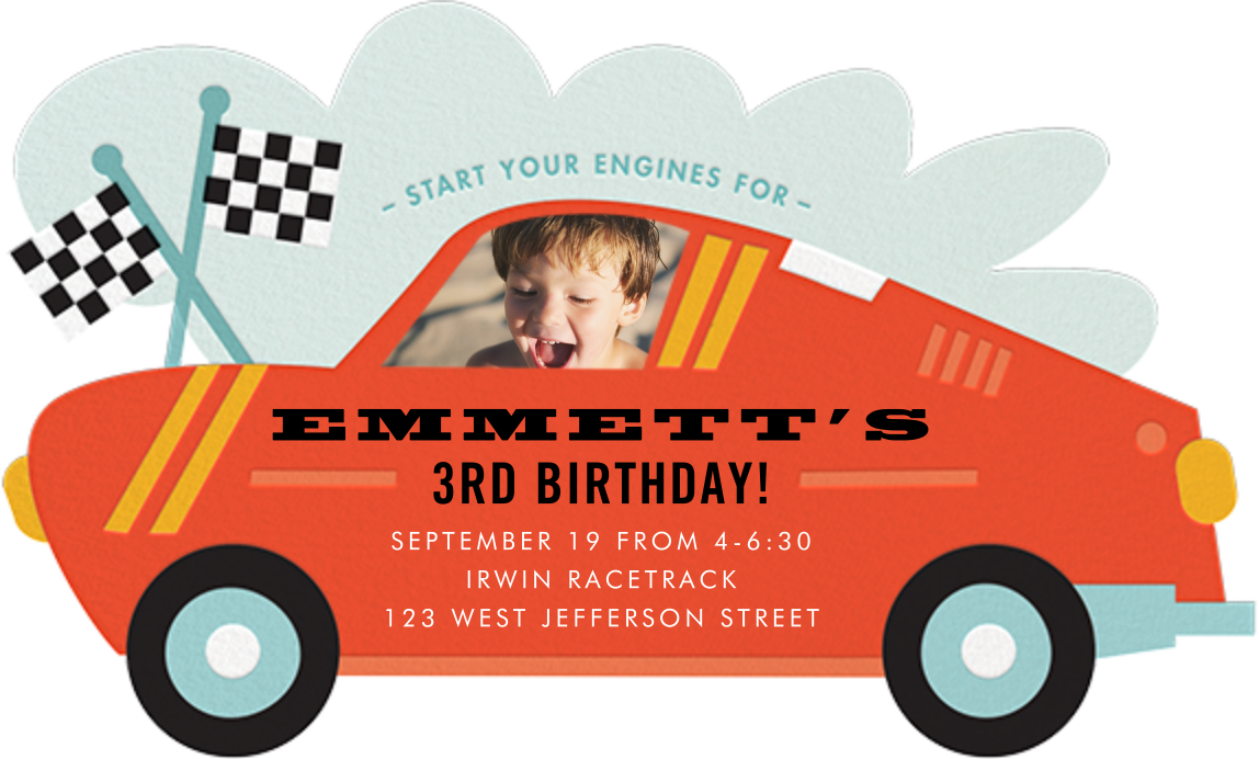 Little Racer - Cheree Berry - Kids' birthday invitations